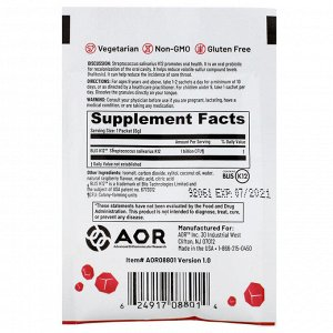 Advanced Orthomolecular Research AOR, Lava Rox, Probiotic for Oral Health, Natural Raspberry, .2 oz (6 g)