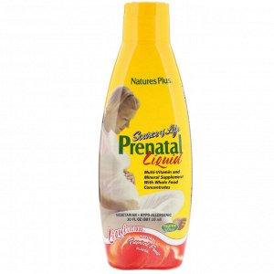 Nature&#x27 - s Plus, Source of Life, Prenatal Liquid, Вкус натуральных тропических фруктов, 887.10 мл