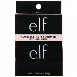 E.L.F., Пудра-праймер для маскировки пор, универсальная, прозрачная, 21 г (0,74 унции)