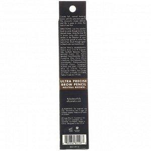 E.L.F., Карандаш для бровей «Суперточное нанесение», нейтральный коричневый, 0,05 г (0,002 унции)