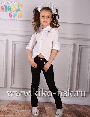 1725 Блуза школьная хлопок белая