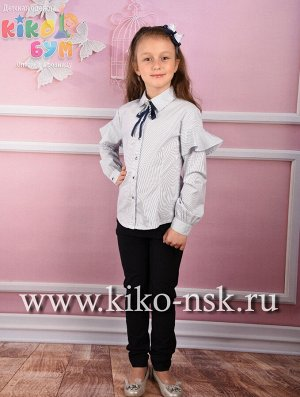 701409 Блуза с длинным рукавом и брошью ModaLora