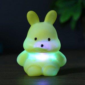"""Ночник пластик """"Зайчик"""" 1Вт RGB МИКС 3х6х6.5 см."""