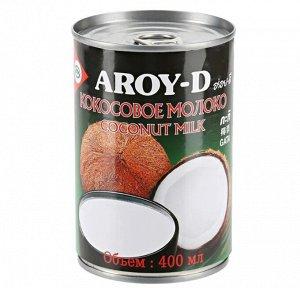 Молоко кокосовое (жирн.17-19%)  'Aroy-d', ж/б  0,4л 1/24