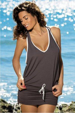 M 313 ELSA Пляжное платье-туника (коричневый)