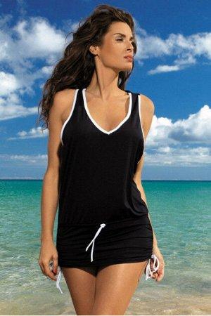 M 313 ELSA Пляжное платье-туника (черный)