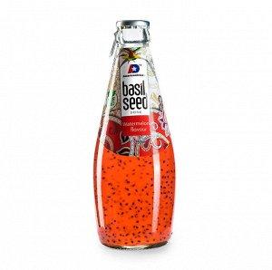 Безалкогольный напиток с семенами базилика (GoodWin Brand Basil Seed Drink with Pomegranate Flavor) со  вкусом граната, 290 мл. СРОК ГОДНОСТИ ДО 01.11.2021