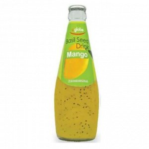 Безалкогольный напиток с семенами базилика (GoodWin Brand Basil Seed Drink with Ma8ngo Flavor) со вкусом манго, 290 мл.СРОК ГОДНОСТИ ДО 01.11.2021