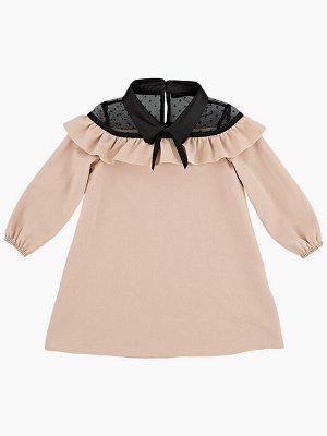 Платье (98-122см) UD 6900(5)беж/черный