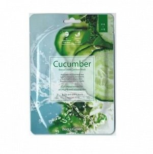 "KR/М BEAUUGREEN Contour  3D Cucumber Essence Mask Маска-салфетка д/лица ""Огурец"""