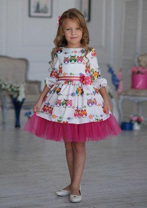 Синди нарядное платье белый