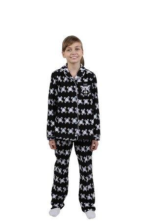 Детская пижама Енотик Цвет: Черный. Производитель: Оптима Трикотаж