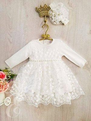 Платье кружевное Ободок 804-ПО