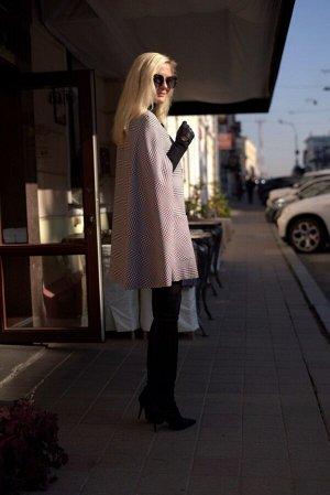 Пальто Пальто Azzara 3069  Состав: ПЭ-100%; Сезон: Весна Рост: 170  Пальто-кейп женское из ткани в клетку, свободного покроя, вырез горловины круглый, застегивается спереди на пряжки-клеванте с кнопк