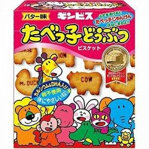 Печенье Ginbis зверюшки с масляным вкусом 63гр срок годности до 30.05.2021