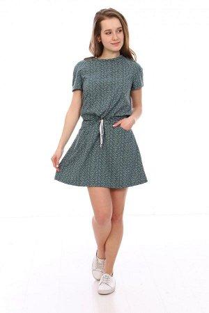 Платье Характеристики: Состав- 35% хлопок, 65% п/э; Материал: кулирка Красивое и нежное платье для девочек. По бокам имеются кармашки.