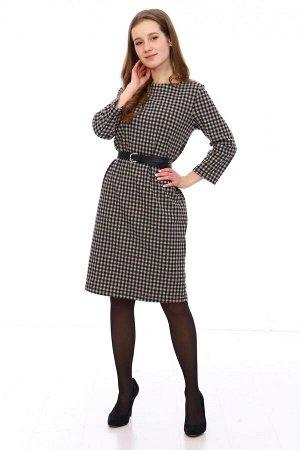 Платье Характеристики: Состав-хлопок 40%, п/э 55%,лайкра 5%; Материал: футер жаккард Стильное платье, в деловом стиле! Его можно подпоясатьремешком, надеть каблучки и будет деловой, но модный образ.