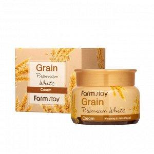 Farm Stay Grain Premium White Cream Осветляющий крем с экстрактами злаков, 100 гр