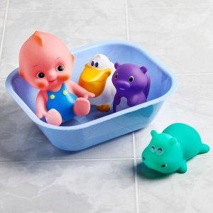 Набор игрушек для игры в ванной «Пупс +3 игрушки в ванне»