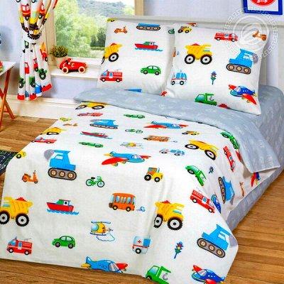 🔥Текстиль из Иваново-32! Цены снижены!🔥 — Детям и подросткам 1,5 спальные комплекты. Бязь. Поплин — Односпальные комплекты