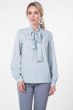 Блузка Эмилия №23.Цвет:мятный/горох