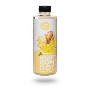 Напиток безалкогольный «GINGER КОМПОТ» с имбирем и лимоном, 330 мл.