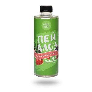 Напиток безалкогольный «ПЕЙ АЛОЭ» с алоэ, клубникой и асаи, 330 мл