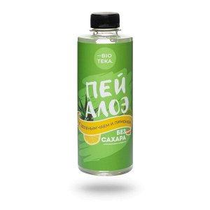 Напиток безалкогольный «ПЕЙ АЛОЭ» с алоэ, зеленым чаем и лимоном, 330 мл