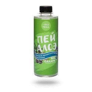 Напиток безалкогольный «ПЕЙ АЛОЭ» с алоэ, черникой, черной смородиной и розмарином, 330 мл