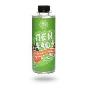 Напиток безалкогольный «ПЕЙ АЛОЭ» с алоэ, грейпфрутом и гвоздикой, 330 мл