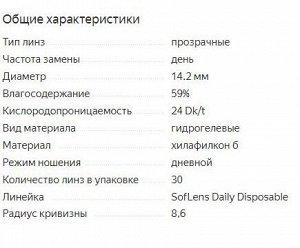 Однодневные контактные линзы B&L SOFLENS DAILY DISPOSABLE 30 линз