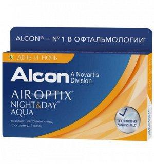 1-мес контактные линзы AIR Optix Night & Day AQUA 3 линзы