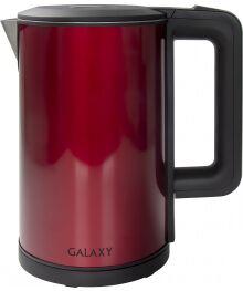 Чайник Galaxy GL 0300 красный (2 кВт, 1,8л, двойная стенка нерж и пластик) 6/уп