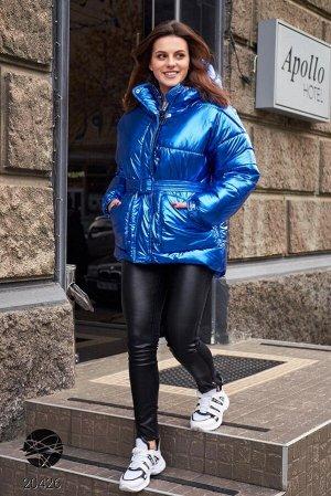 Дутая стеганая куртка с капюшоном
