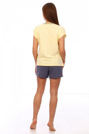 Костюм Ткань: Кулирка; Состав: 100% хлопок; Размеры: 42, 44; Цвет: Желтый