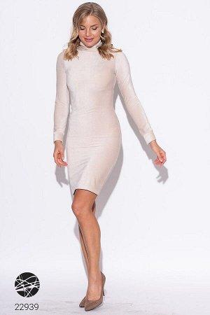 Вельветовое платье мини с поясом