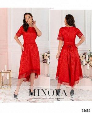 Платье №17-077-красный