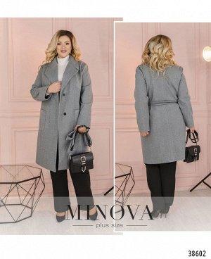 Пальто №3321-серый