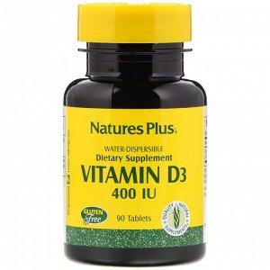 Nature&#x27 - s Plus, Vitamin D3, 400 IU, 90 Tablets