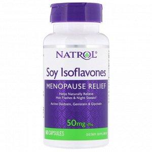 Natrol, Изофлавоны сои, 50 мг, 60 капсул