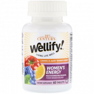 21st Century, Wellify! Women&#x27 - s Energy, Multivitamin Multimineral, 65 Tablets