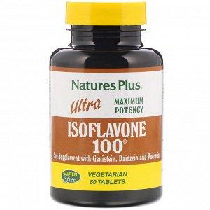 Nature&#x27 - s Plus, Ultra Isoflavone 100, 60 вегетарианских таблеток