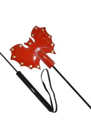 Стек Sitabella летучая мышь 63 см, кожа, красный