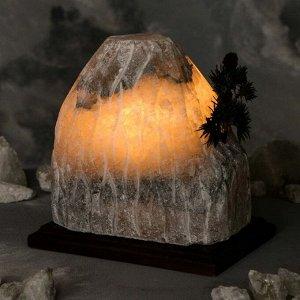 "Соляная лампа ""Гора бонсай"", цельный кристалл, 21 см"