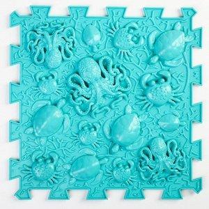 """Детский массажный коврик 1 модуль """"Океан"""" цвет голубой"""