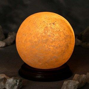 "Соляная лампа ""Шар малый"", цельный кристалл, 14 см"