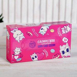 """Салфетки бумажные в коробке """"Ламы"""", 100 шт."""