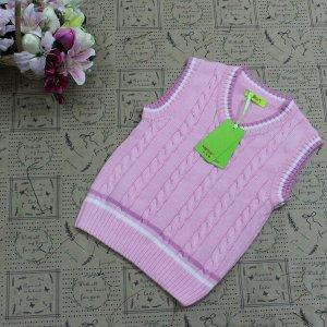 Рост 147-152. Детская жилетка Continion из натурального хлопка розового цвета.