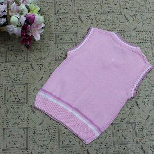 Рост 162-166. Детская жилетка Continion из натурального хлопка розового цвета.