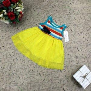 Рост 85-90. Детское платье Lisa_Wils из дышащей ткани.